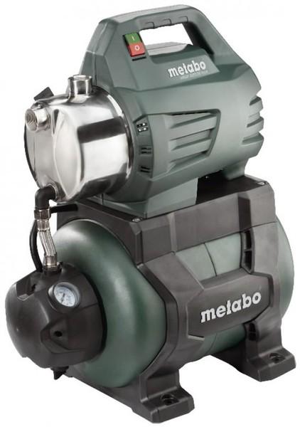 """ŪDENS SŪKNIS-HIDROFORS METABO HWW 4500-25 INOX  Specifikācija Nominālā ieejas jauda: 1300W • Spriegums: 220 - 240V • Maksimālā padeve: 4500 l/h • Maksimālais sūknēšanas augstums: 8m • Maksimālais padeves augstums: 48m • Maksimālais spiediens: 4,8 bāri • Sūknēšanas pieslēgumvieta: 1"""" iekšējā vītne • Izlādes pieslēgumvieta: 1"""" iekšējā vītne • Tvertnes aptuvenā ietilpība: 24 L • Nerūsējošā tērauda sūkņa korpuss • Dzenošā vārpsta no kvalitatīva nerūsējošā tērauda • Tērauda tvertne • Elektr"""