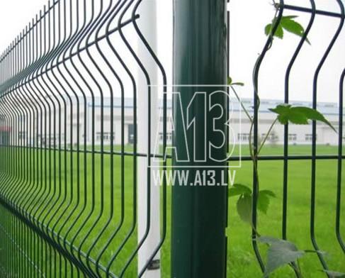 3D 4mm Paneļu Žogs Zaļš 1230*2