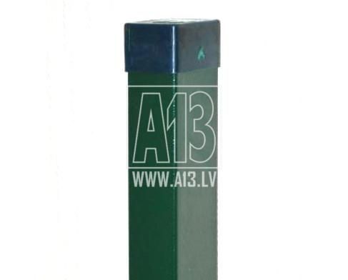 Metāla žoga stabs; zaļš; cinko