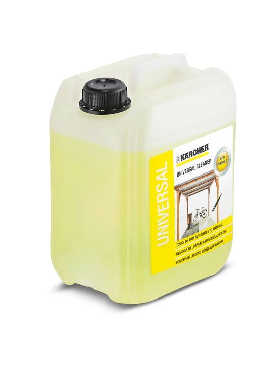 Universālais tīrīšanas līdzeklis Kärcher RM555, 5L  Specifikācija Tīrīšanas līdzeklis universālam pielietojumam jaunā Plug'n'Clean iepakojumā.  Svars 5.4  Cena par 1L 3.00 EUR