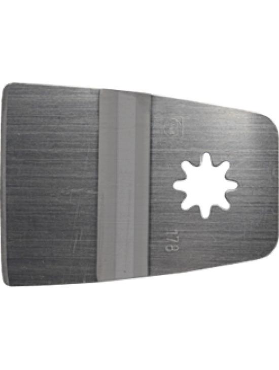 Skrāpis Fein 10,6 cm  Specifikācija Vecās lakas noņemšanai,līmes pārpalikumiem, paklāju, flīžu līmes un citu virsmu noņemšanai.  Svars 0.044 kg Cena 14.95 bez atlaides