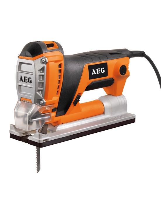 Figūrzāģis AEG PST500X 450W  Specifikācija Kompakts un ērts lietošanai. Tērauda stiprinājums Fixtec. Ātra un ērta zāģa asmens nomaiņa bez darbarīkiem. Lieliska redzamība, regulējama putekļu savākšana, LED apgaismojums. Materiāla biezums kokā 90°: 40 mm, metālā 90°: 6 mm. Svārsta mehānisms - Ātra zāģēšana. Garantija 2 gadi.  Svars 2.85 kg Cena IZPĀRDOTS bez atlaides