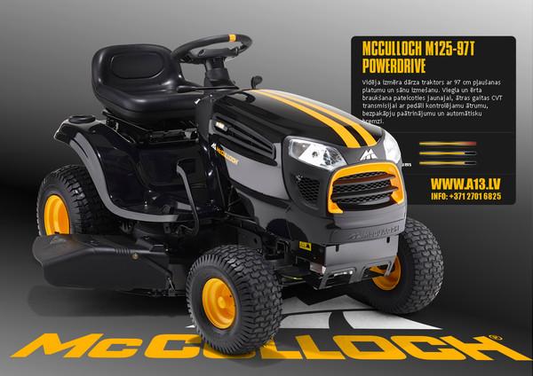 Dārza Traktors McCulloch M125-