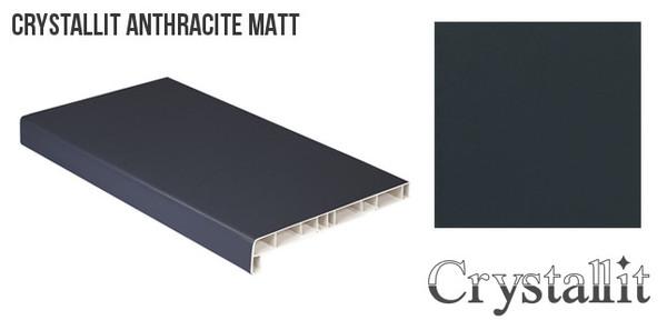 Crystallit Antracīta Pelēka Matēta PVC Palodze Design Decor 100mm  Platums 100 mm Krāsa Antracīta/Pelēka Matēta