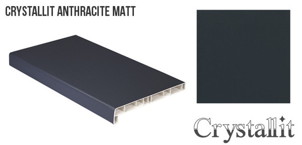 Crystallit Antracīta Pelēka Matēta PVC Palodze Design Decor 500mm  Platums 500 mm Krāsa Antracīta/Pelēka Matēta
