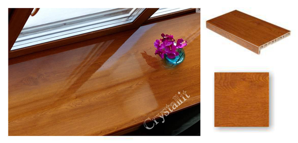 Dzintarozola PVC Palodze Glancēta - Crystallit Amber Oak Gloss 100mm  Krāsa Dzintarozols  Platums 100 mm