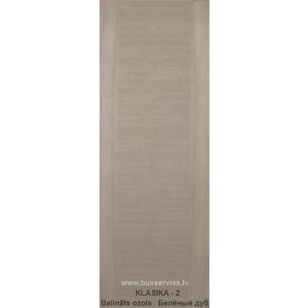 Durvis Klasika-2 LOZA, Balināts Ozols 800x2000mm Vērtnes Izmērs 800x2000 mm Bloka Izmērs 860x2040 mm Krāsas Tonis Balināts Ozols Iegādājoties 2 un vairāk kompl. 114.99 EUR tsk. PVN