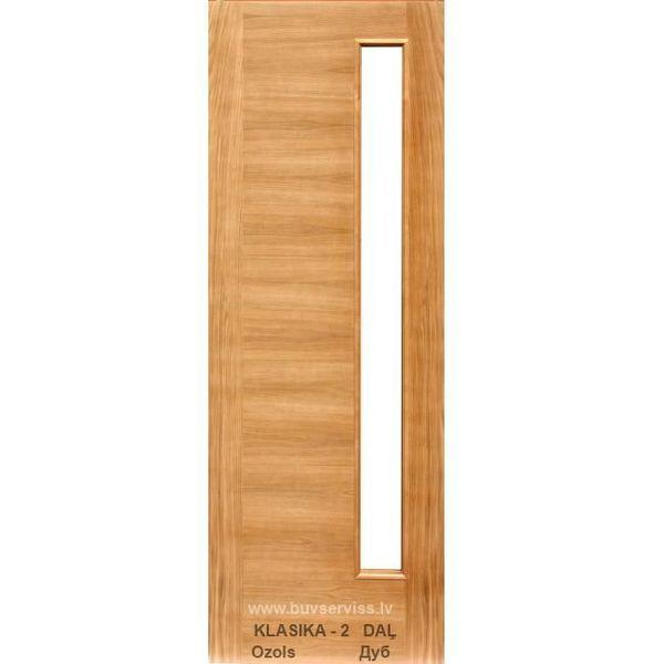 Durvis Klasika-2 LOZA, ar stiklu, Ozols 800x2000mm Vērtnes Izmērs 800x2000 mm Bloka Izmērs 860x2040 mm Krāsas Tonis Ozols Iegādājoties 2 un vairāk kompl. 137.99 EUR tsk. PVN