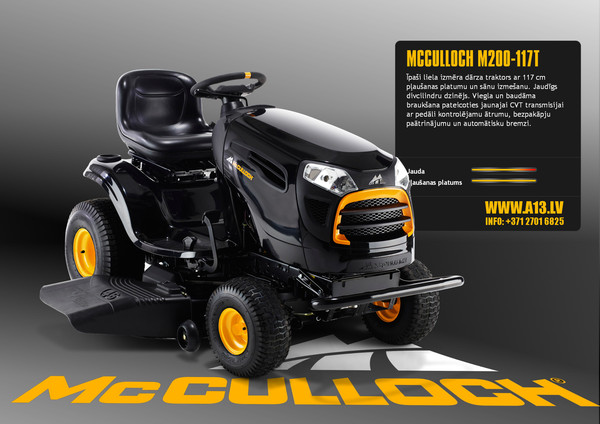 Dārza Traktors McCulloch M200-