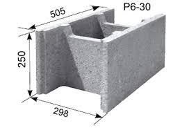 Pamatu Bloki TERIVA HAUS P6-30
