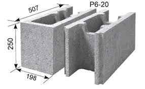 Pamatu Bloki TERIVA HAUS P6-20  Izmērs 500x200x250 mm Specifikācija Spiedes stiprība- 6 N/mm2, bloku skaits 1m2-8 gab, bloku skaits 1 m3- 40 gab, paletē- 50 gab,1140kg,1,25m3, 40 parastie bloki un 10 nobeiguma bloki